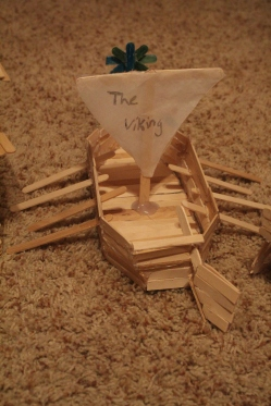 Viking ship of school project