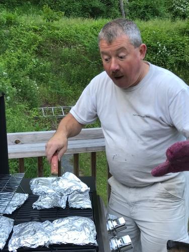 He grilled immediately!
