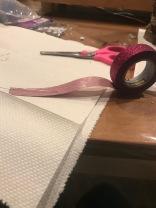 Cut washi tape to length you need